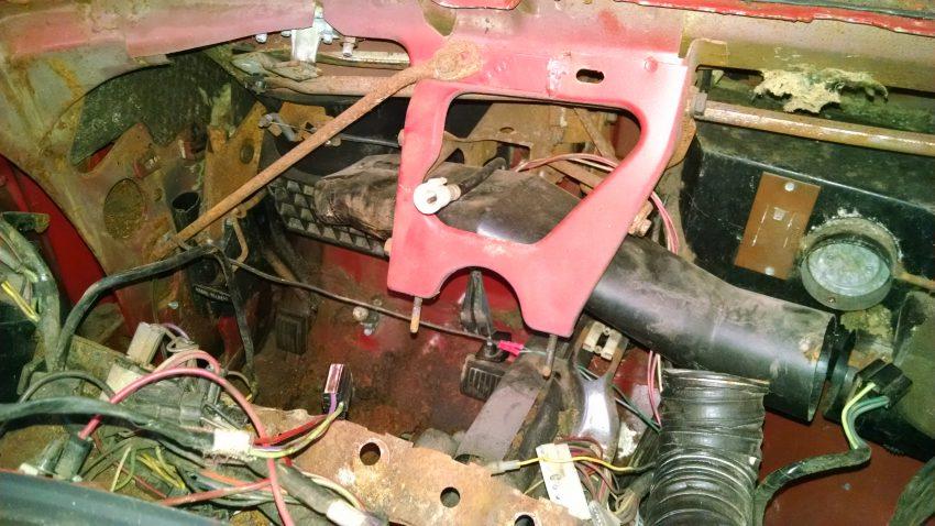 Auto Restoration Tools-Homemade Dash Frame Holder for 1966